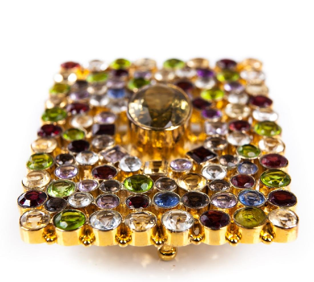 GEM STONE BUCKLE IN GOLD PLATED METAL - 4