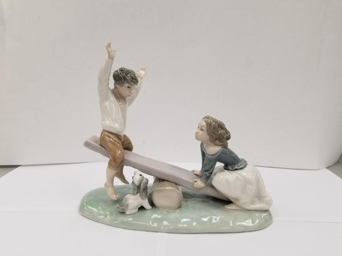 "LLADRO PORCELAIN GROUP ""SEESAW"" NO 4867"