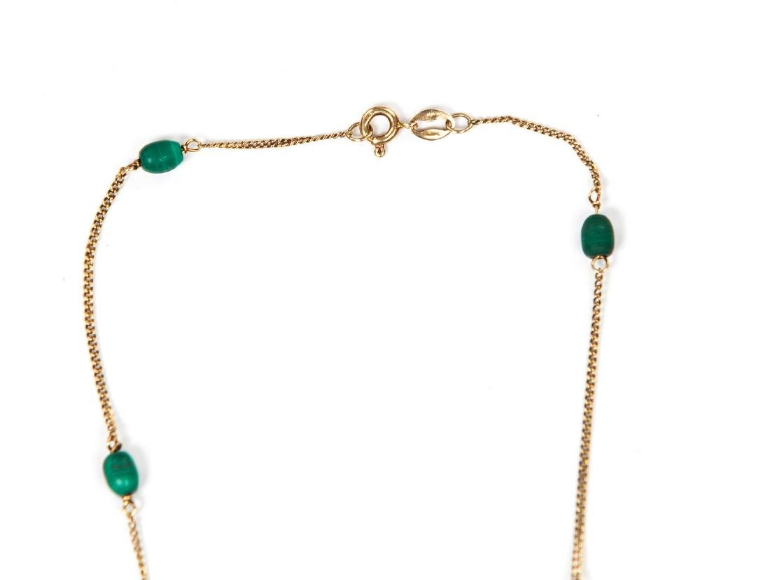 18 KT YG AND MALACHITE NECKLACE - 3
