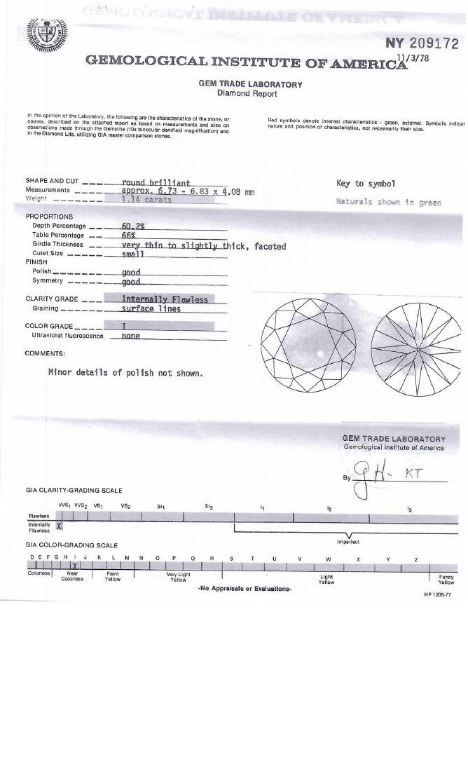 YG 14 KT DECO BANGLE BRACELET W DIAMONDS - 8
