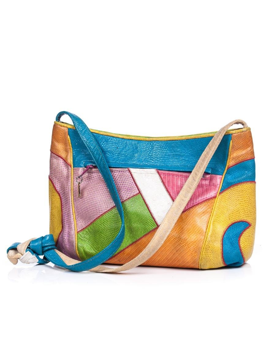 VINTAGE SHARIF MULTI COLOR SHOULDER BAG