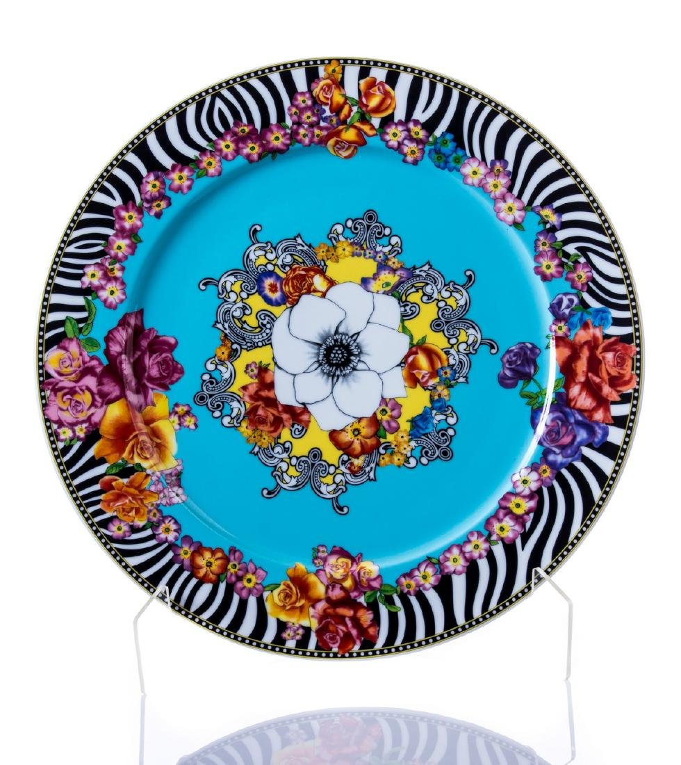 """ROSENTHAL VERSACE """"HOT FLOWERS"""" CHARGER"""