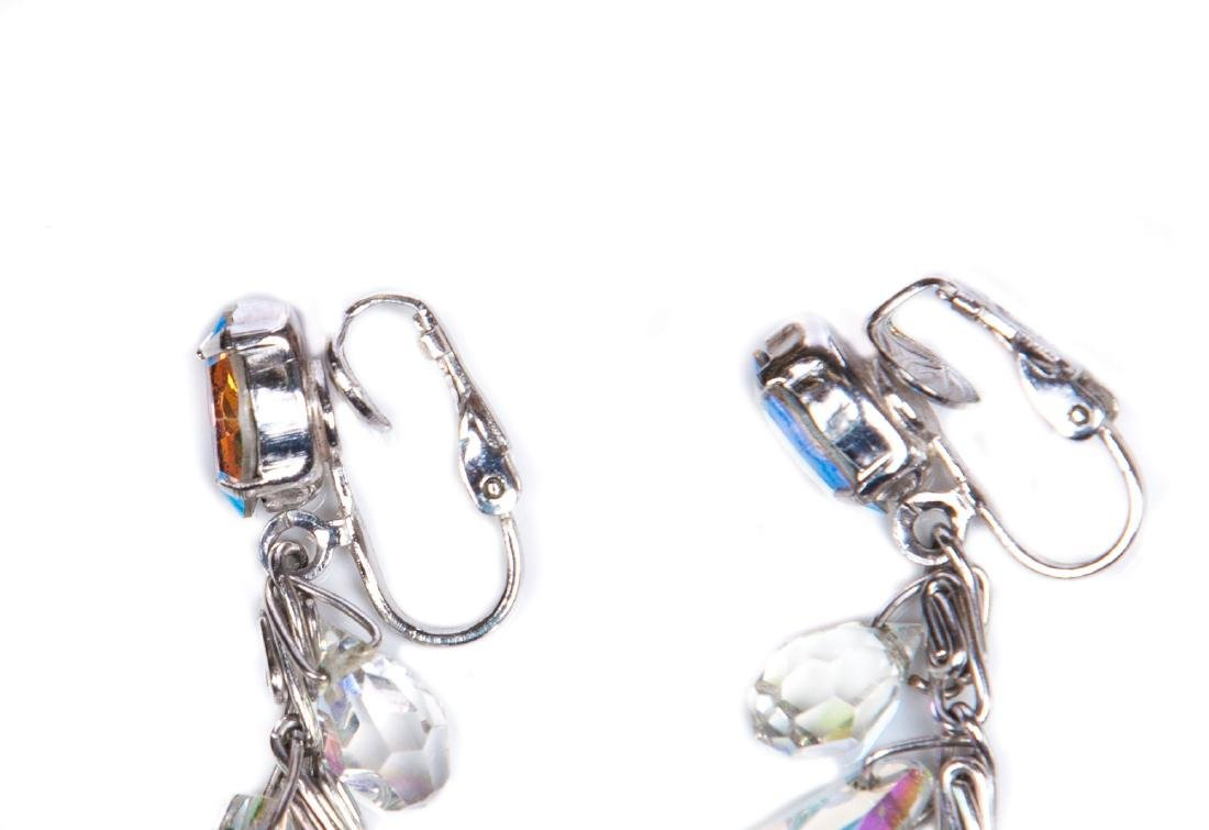 TWO PAIRS OF AURORA BOREALIS CRYSTAL EARRINGS - 5