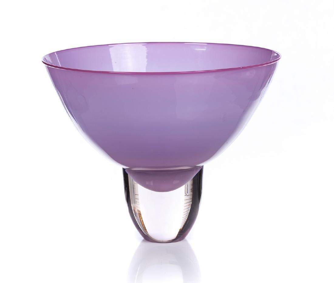 YOUNG CONSTANTINE ART GLASS CENTERPIECE BOWL - 2