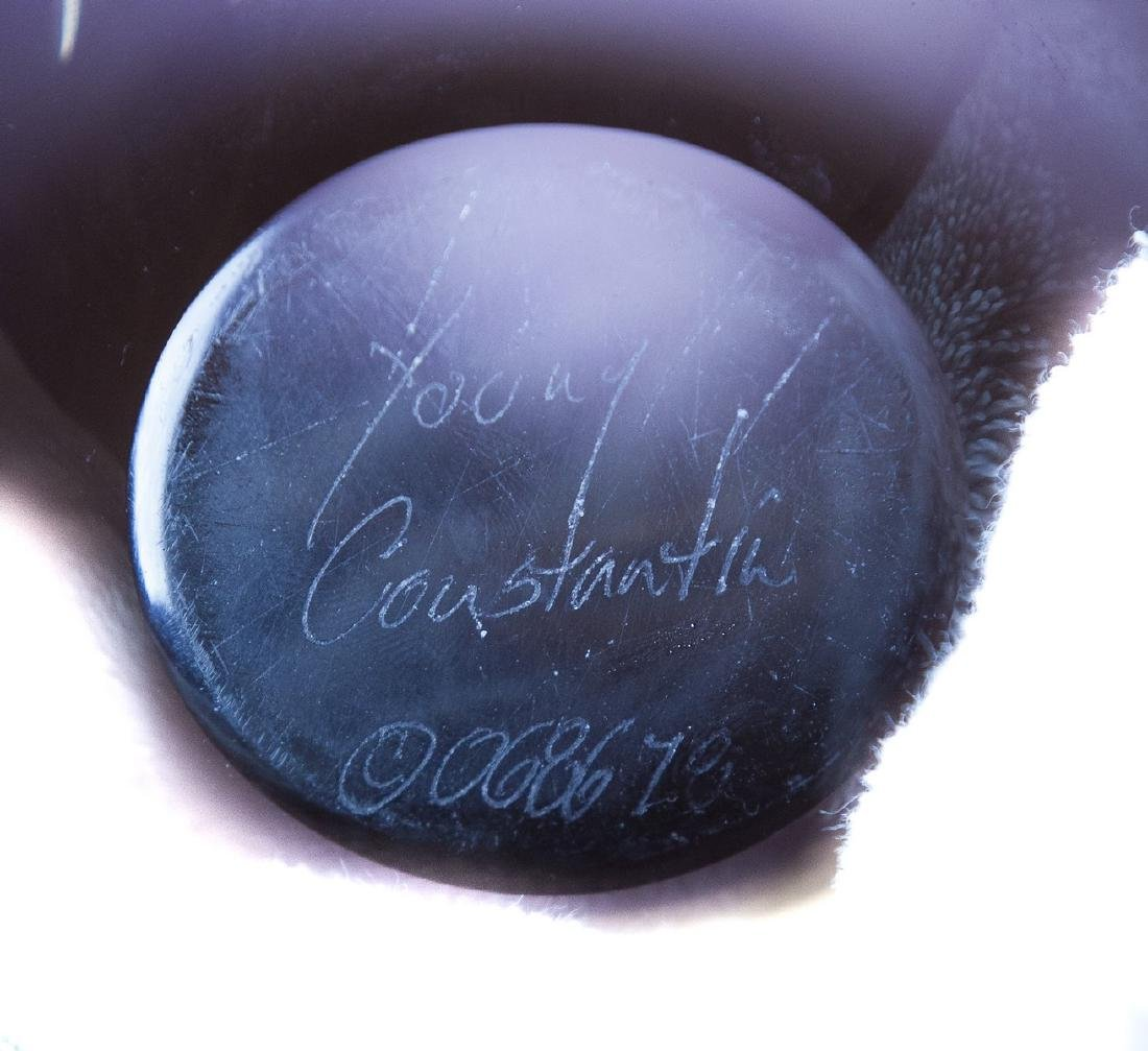 YOUNG CONSTANTINE ART GLASS CENTERPIECE BOWL - 4