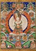 A fine thangka of Sitatapatra