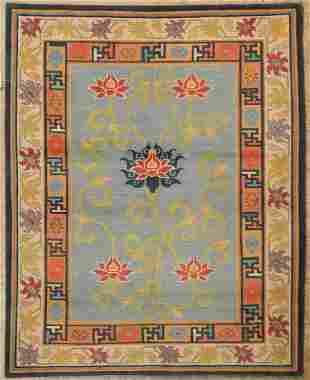 Extremely Fine Nepali Lotus Rug