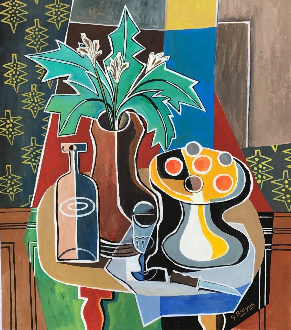 George Braque (Gouache on paper)