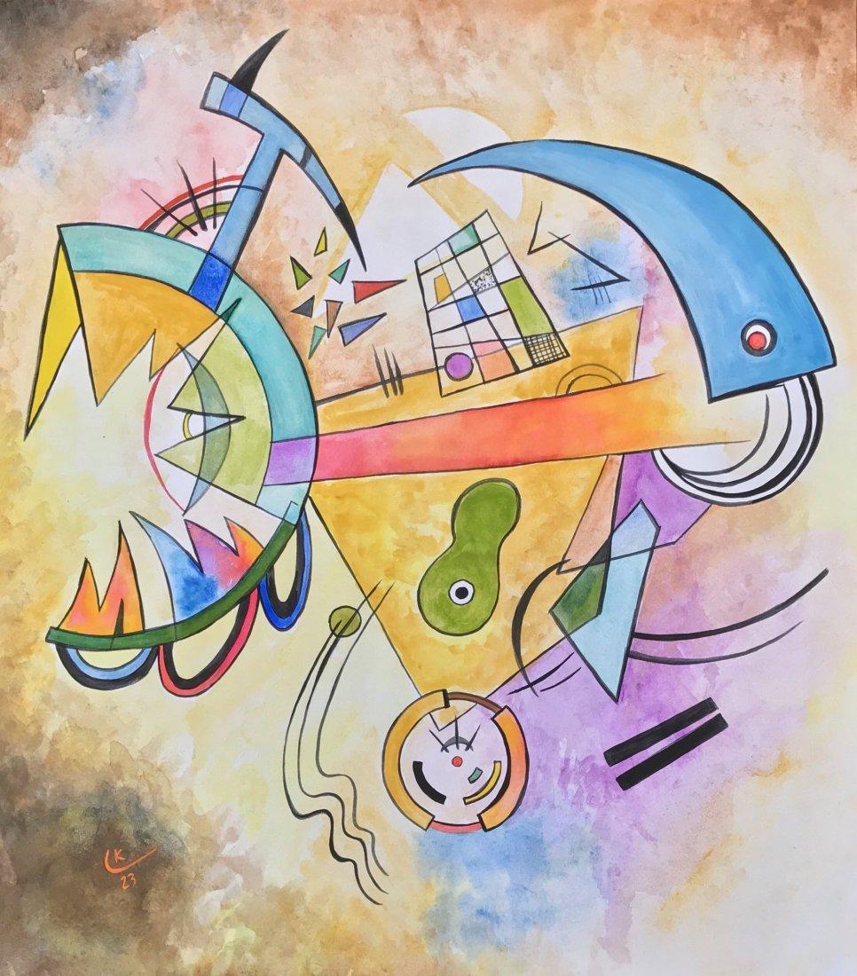 Wassily Kandinsky (Mixed media on paper)