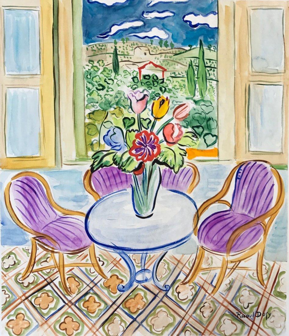 Attributed to Raoul Dufy (Watercolor on paper)