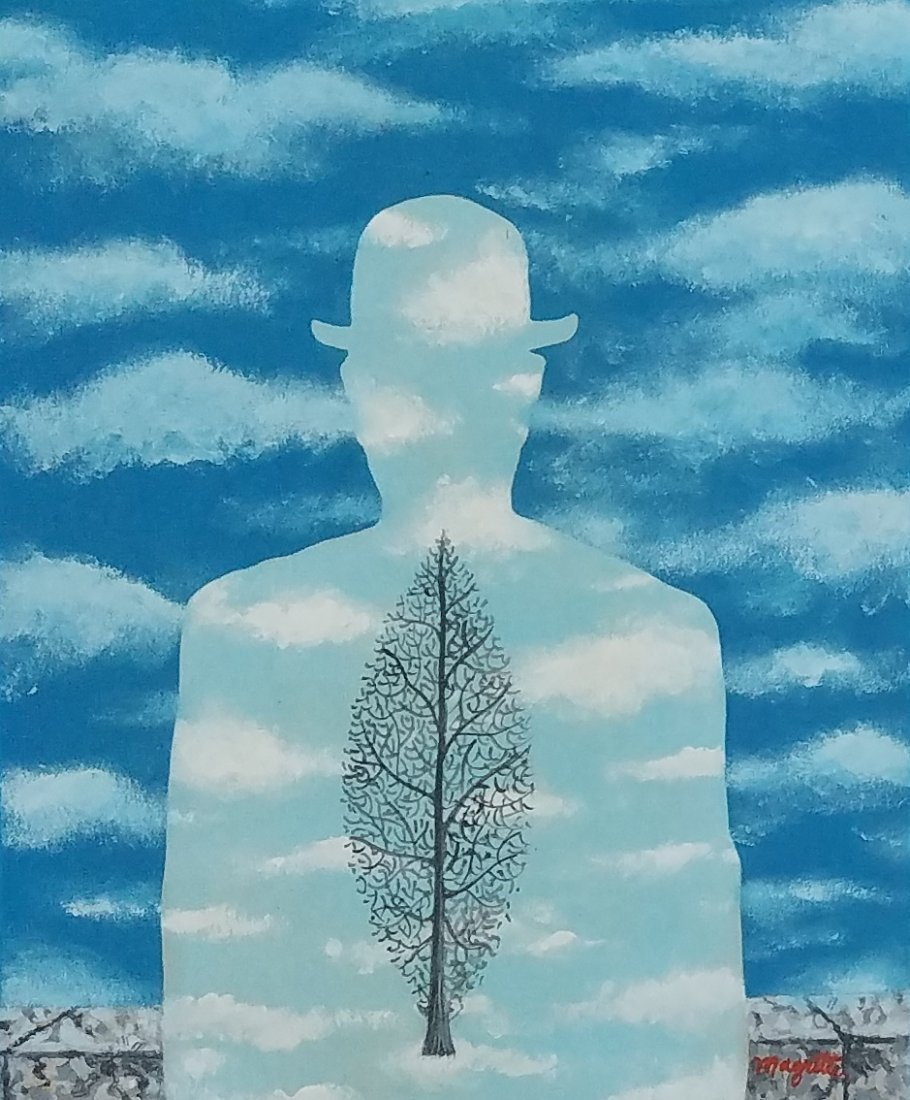 Attributed to Rene Magritte (Gouche on paper)