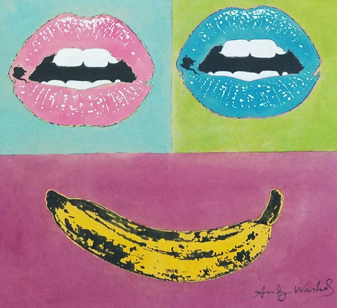 Attributed to Andy Warhol (Watercolor on paper)