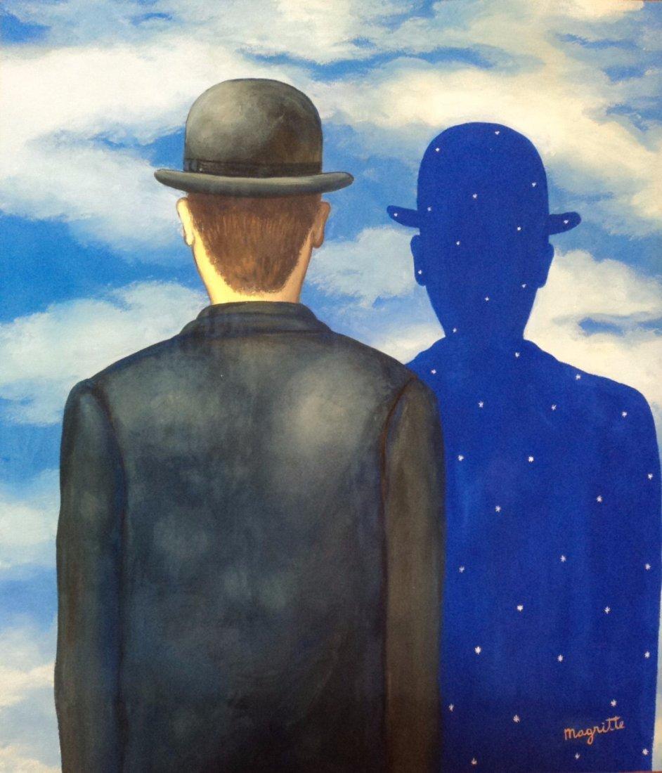 Rene Magritte (Gouache on paper)