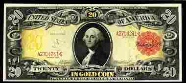 1905 Tecnicolor $20 RARE!