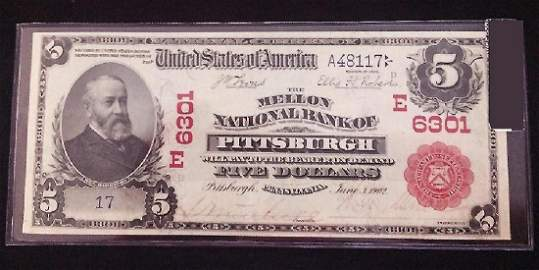 1902 Red Seal $5 SER 17
