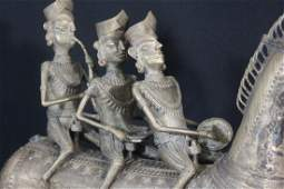 Dogon Tribe Sculpture of Noblemen Riding Horse