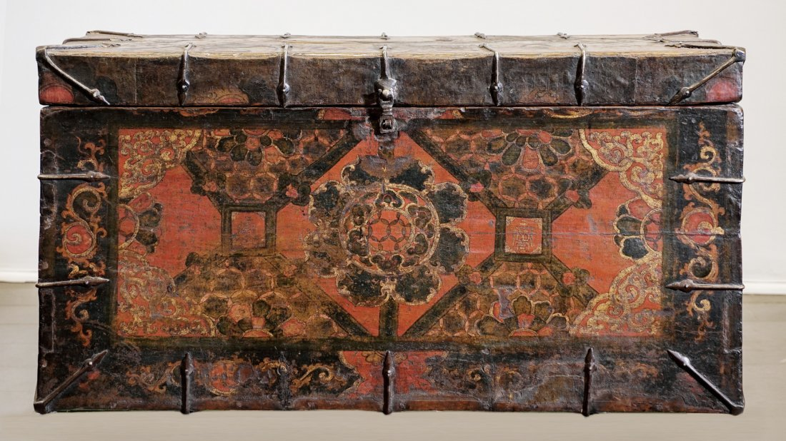 Tibetan trunk - 18th century - Lasha