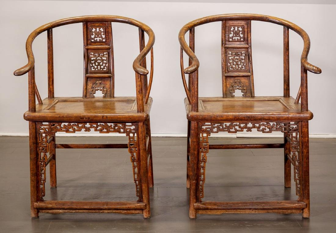 Armchair (pair) - China, Shanxì Province - 18th