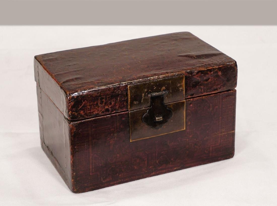 Decorated box - China, Shanxì Province - 19th century