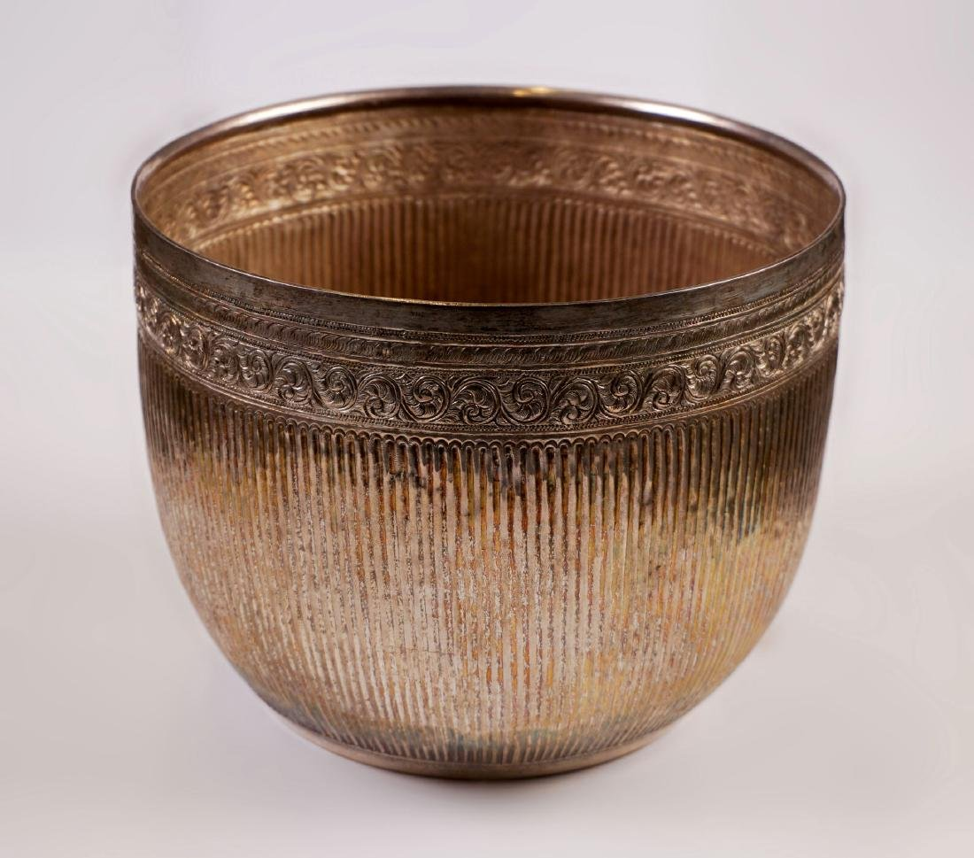 Silver bowl - Burma - late 19th century