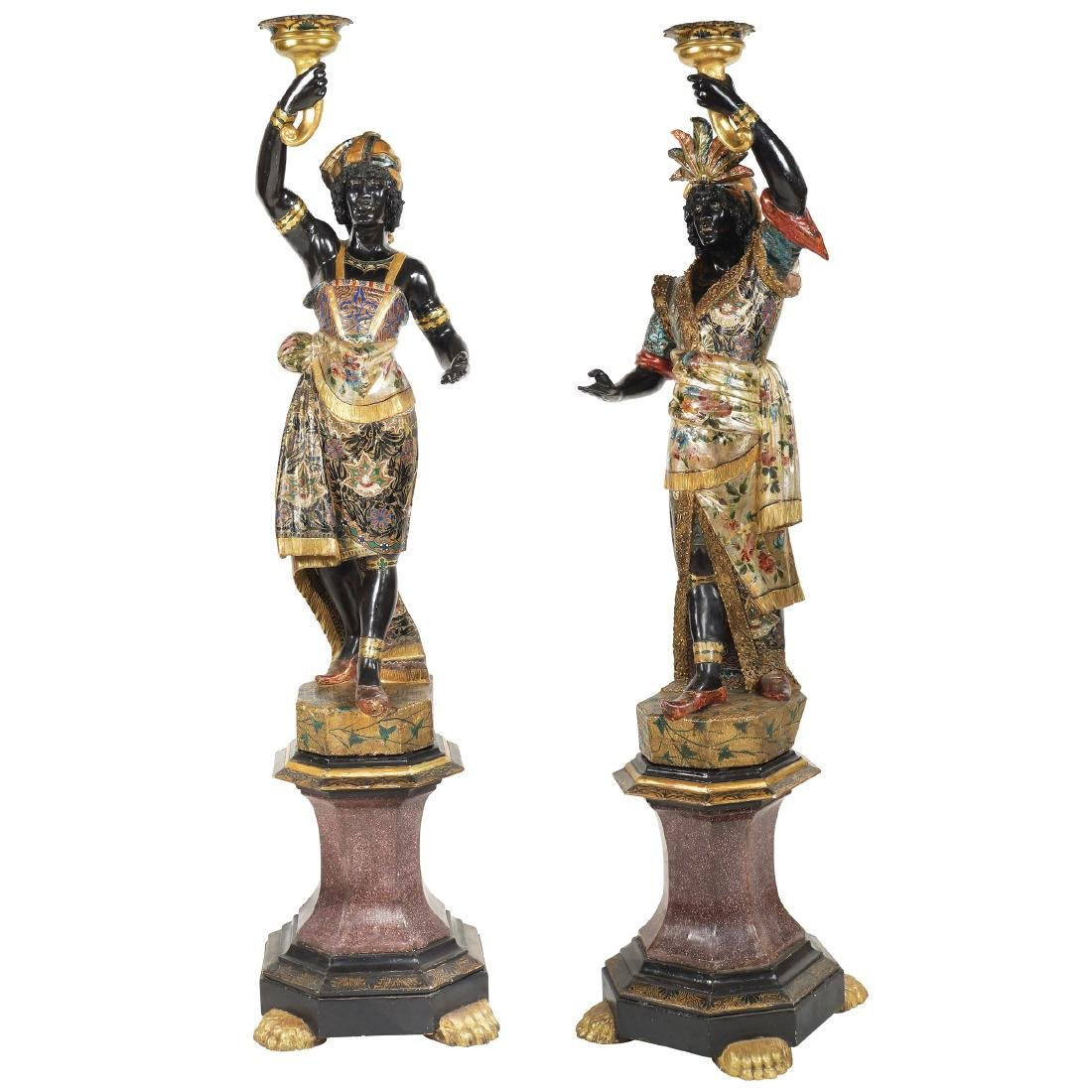 PAIR OF VENETIAN MORI