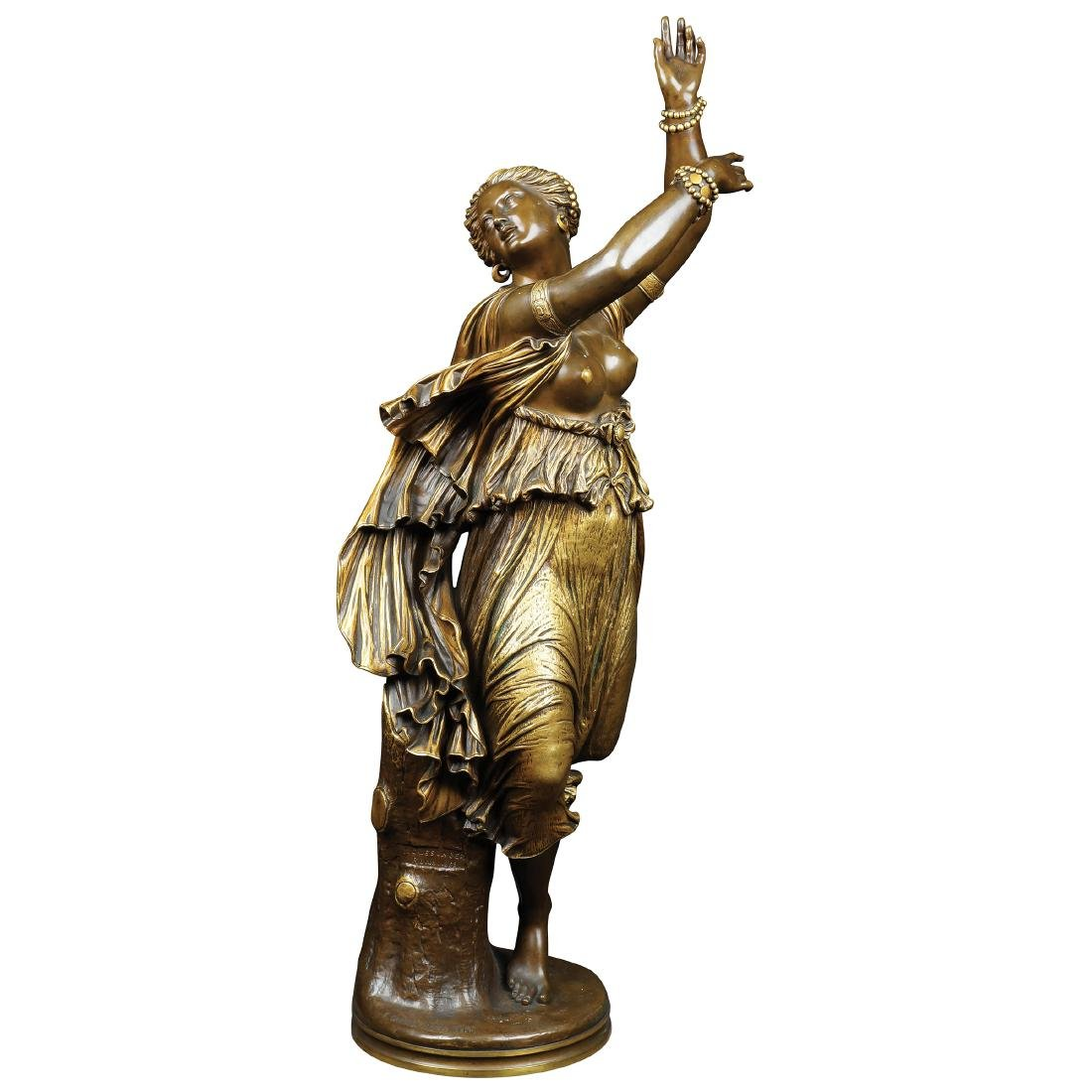 BRONZE SCULPTURE DEPICTING A GYPSY