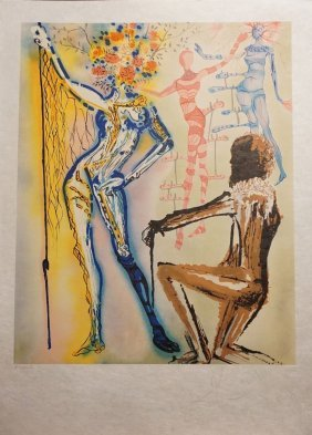 Dali Hs/n Litograph The Fashion Disigner Coa B.hockman