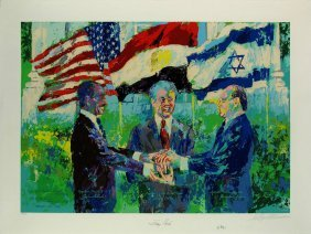 Leroy Neiman White House Egyptian Israeli Peace Treaty