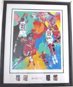 Leroy Neiman Michael Jordan Frmd S/N NBA Chicago Bulls
