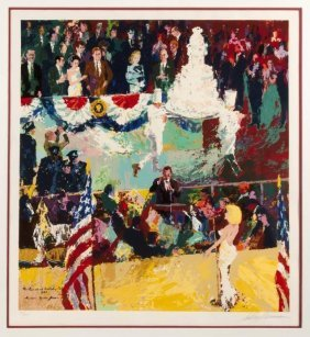 "Leroy Neiman ""the President's Birthday Party"" Hs/n Seri"