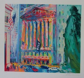 Leroy Neiman Hand S/n New York Stock Exchange Serigraph