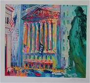 Leroy Neiman Hand SN New York Stock Exchange serigraph
