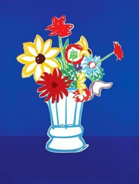 "Tom Wesselmann ""country Bouquet With Blue"" Hs/n"