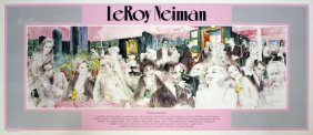 "Have Fun Lot Leroy Neiman ""polo Lounge"" Plate-signed Po"