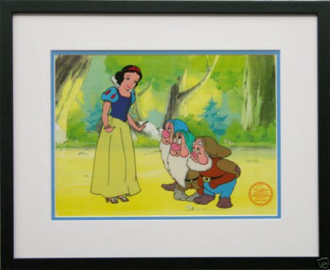 "Disney Framed Animation Cel ""Snow White and Dwarfs"""