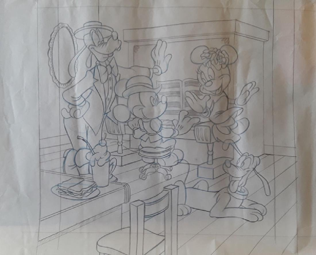 Disney Mickey Mouse and friends production Drawing by