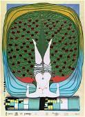 """Friedensreich Hundertwasser """"Hommage Ã"""