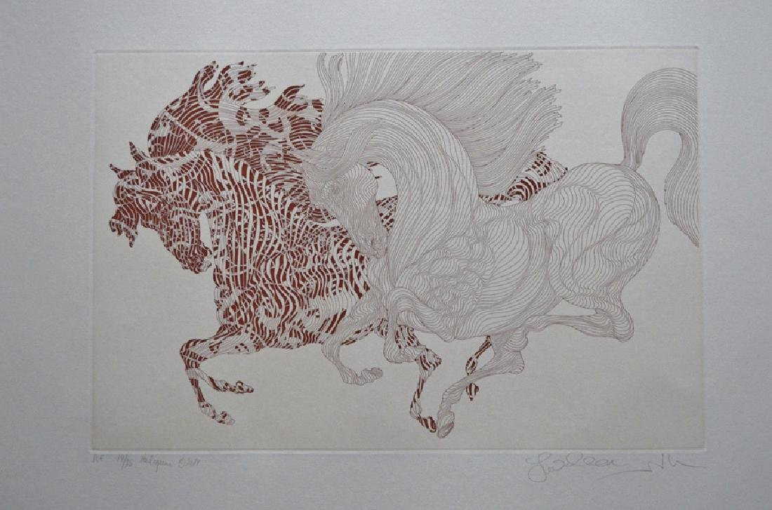 """Guillaume Azoulay """"HARLEQUIN"""" ETCHING HS/N"""