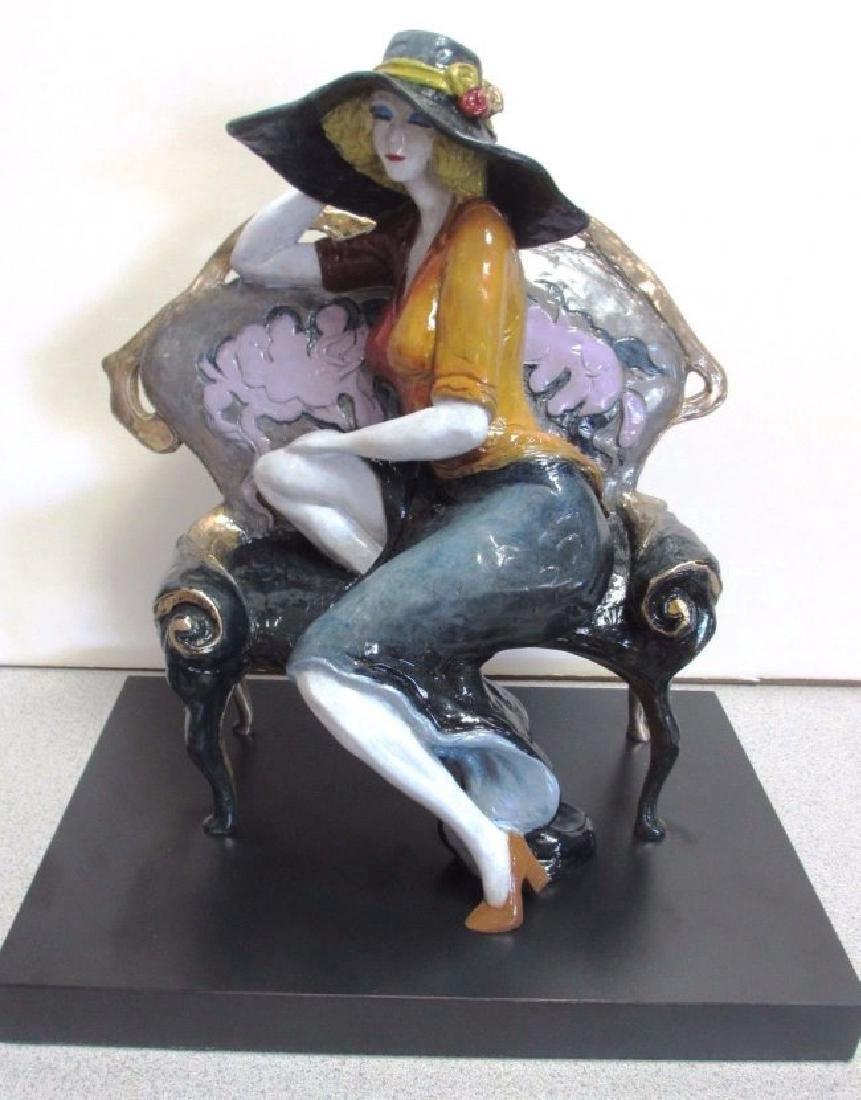 "Itzchak Tarkay Signed/# Bronze Sculpture ""Lavender"