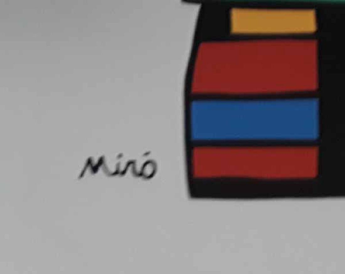 """Joan Miro, """"Woman with Three Hairs"""" Lithograph Signed - 2"""