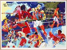 Leroy Neiman Homage to Ali HSN Serigraph Framed