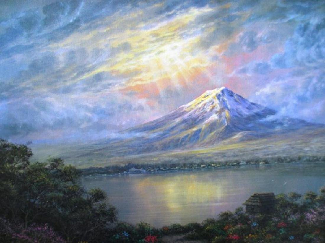 "Maurice Meyer ""Twilight at Mt Fuji"" HS/N Giclee emb."