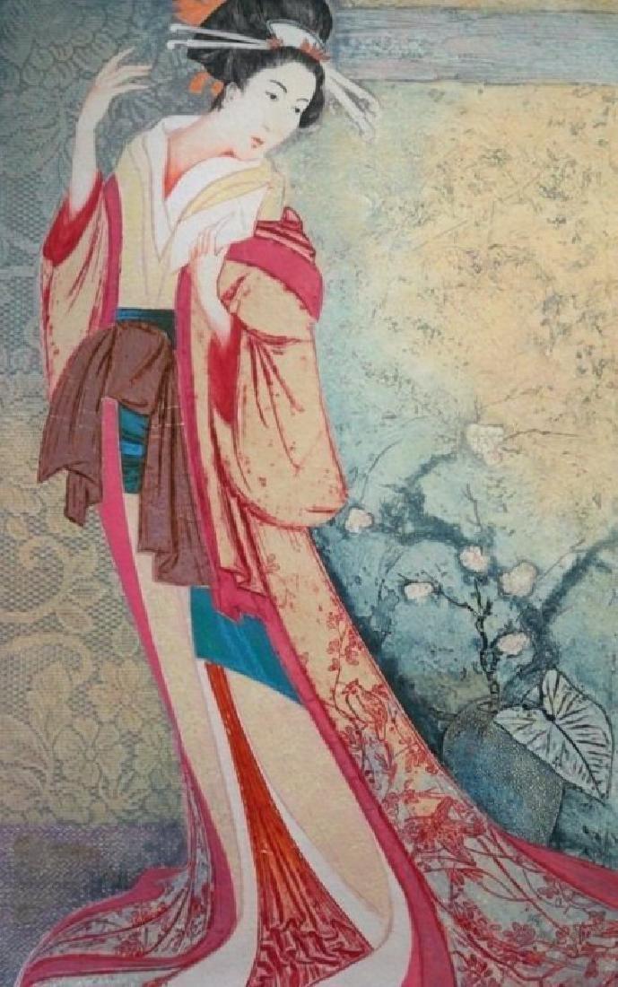 """MIKULAS KRAVJANSKY """"Madame Butterfly"""" HS/N Etching"""