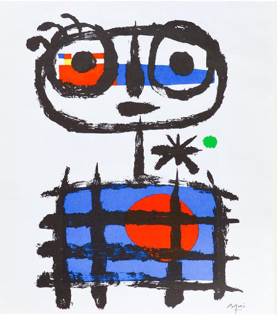 MIRO' JOAN, Mangeur de soleil, 1955 Lithograph signed