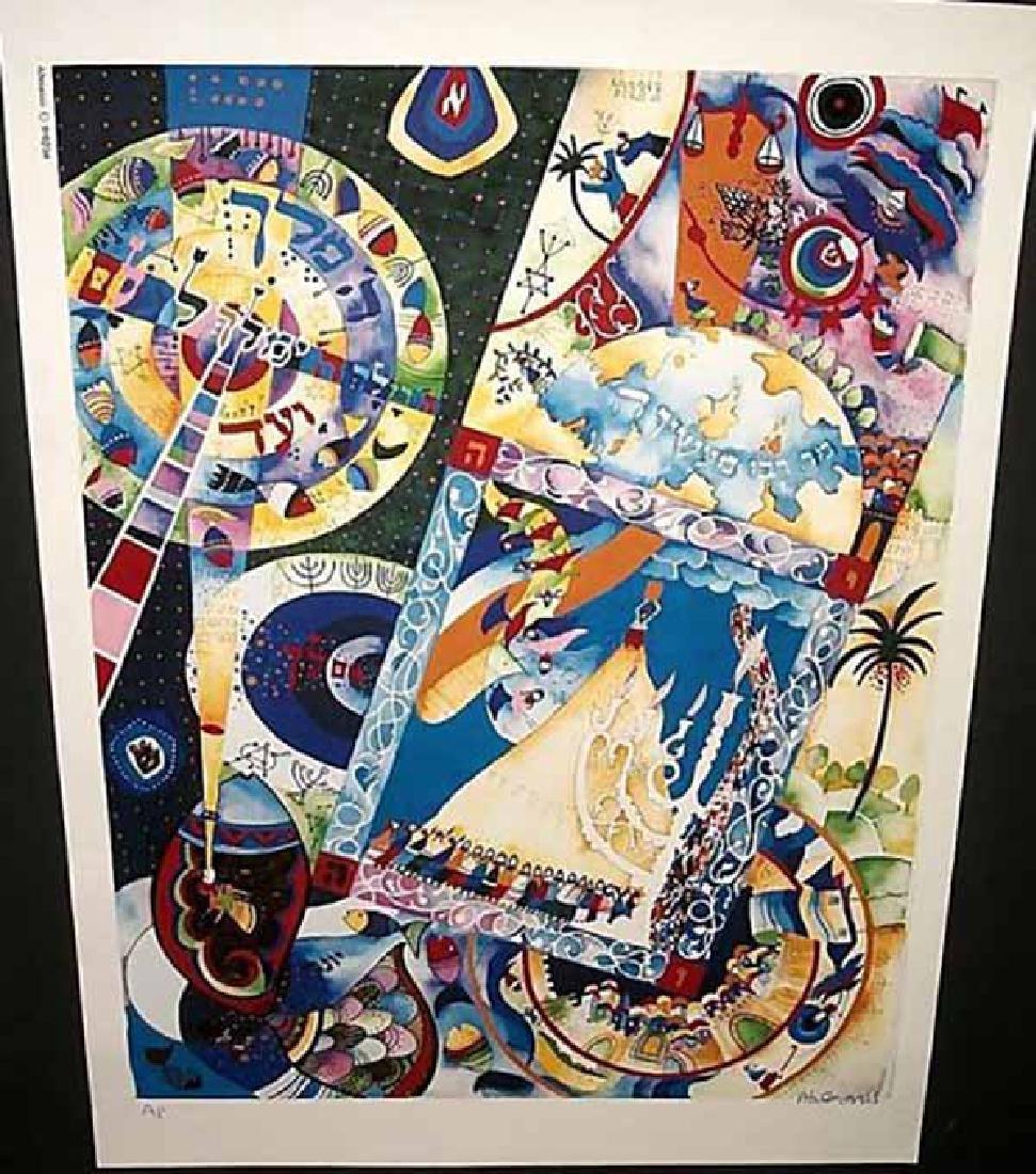 "Raphael Abecassis ""JONAH AP 2001"" HS/N Litograph"