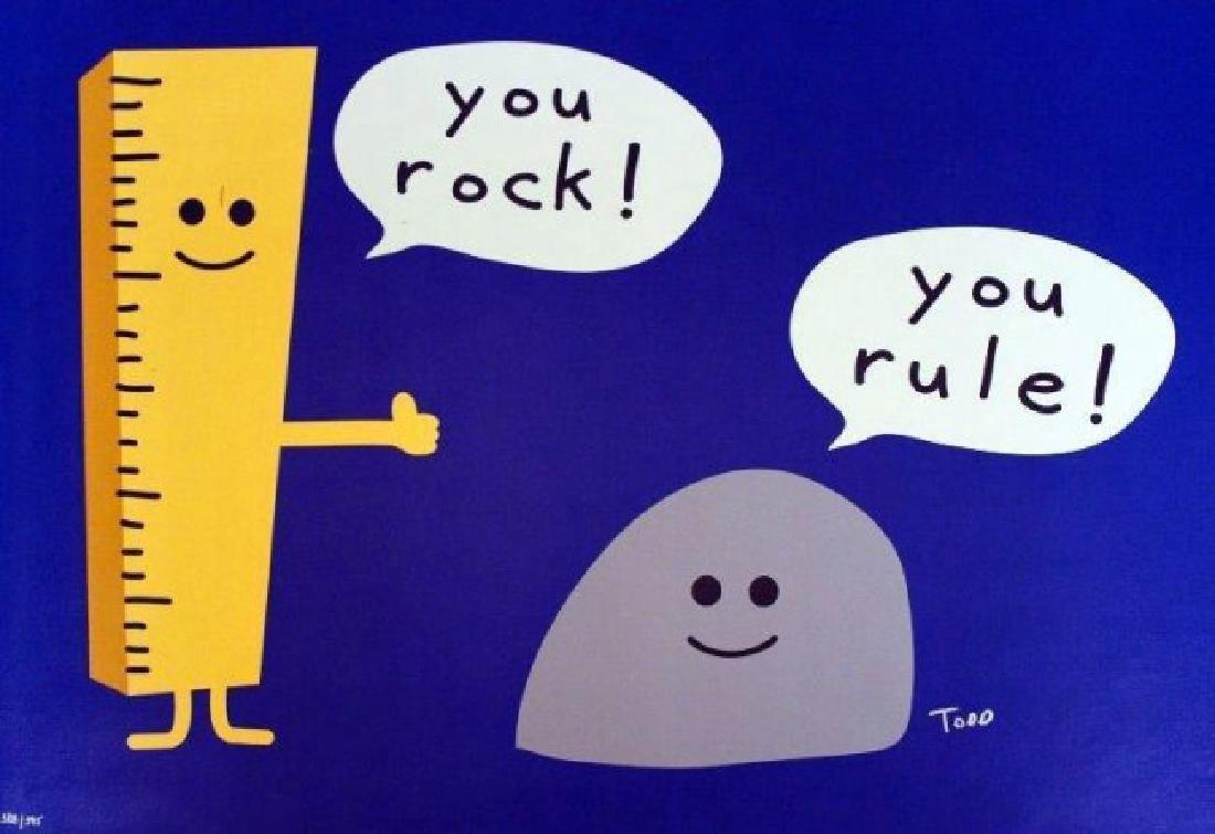 "Todd Harris Goldman ""You Rock You Rule"" HS/N Giclee Can"