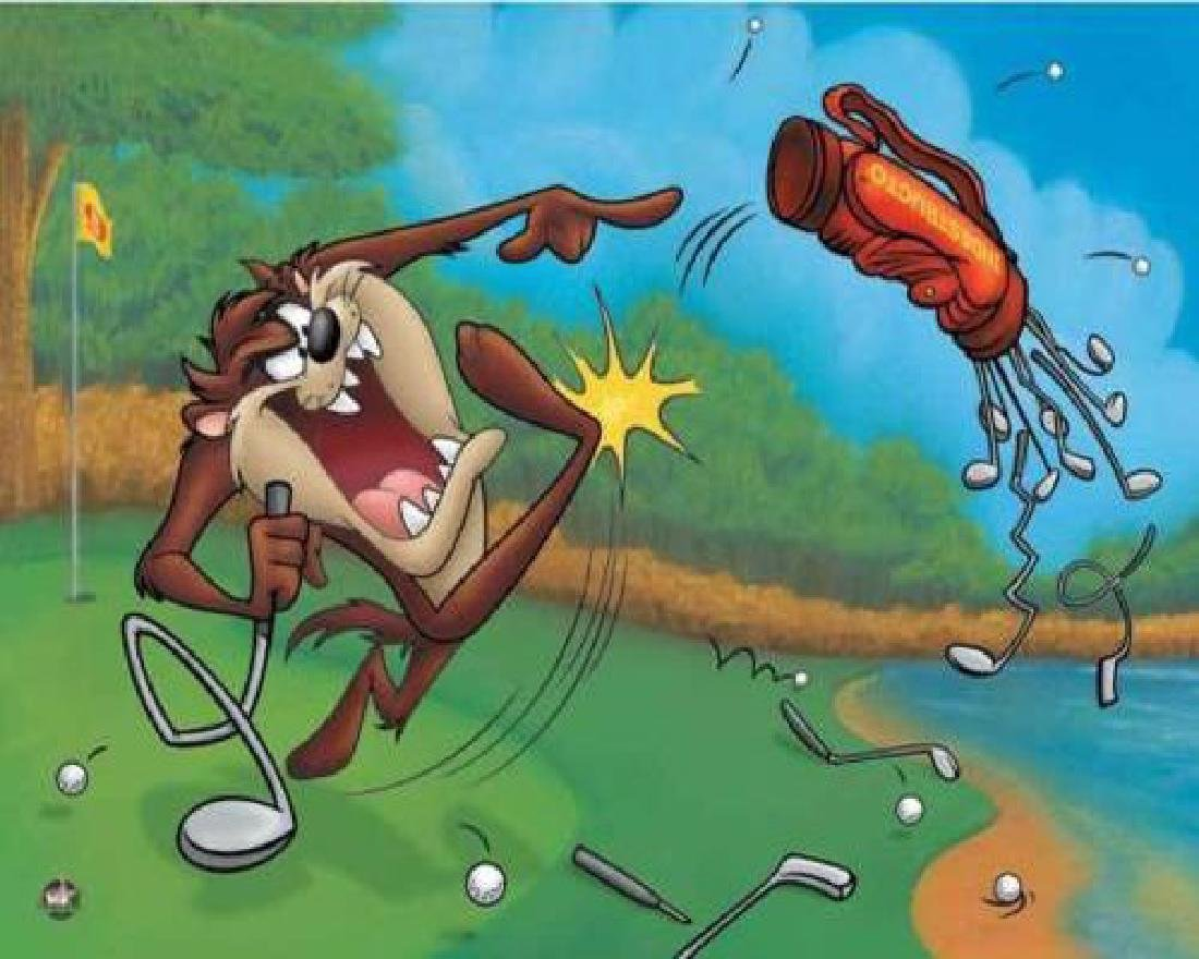 "Warner Bros. ""Terrible Taz Golf"" Animation Giclee Gift"