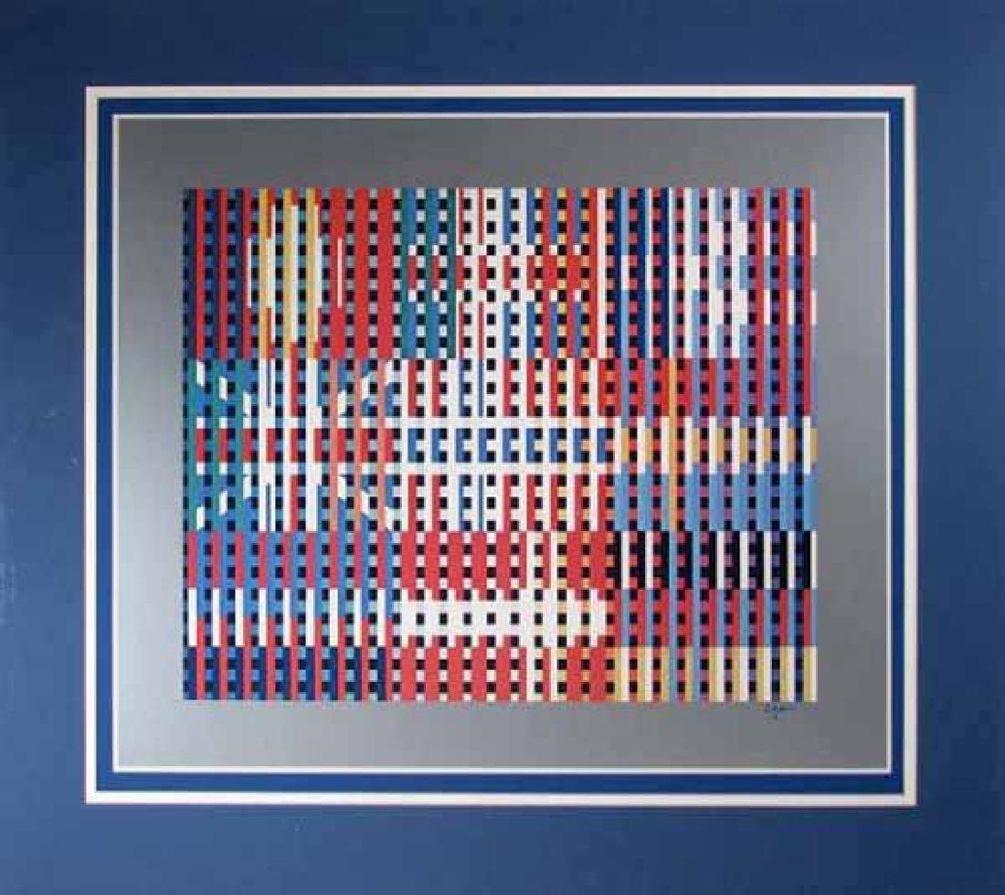 """Agam Yaacov """"Flags of All Nations"""" HS/N serigraph"""