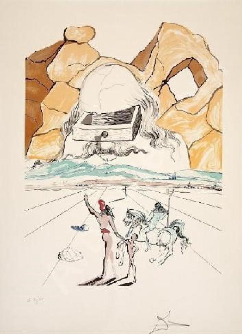 Salvador Dali, Path to Wisdom 1978 Lithograph Hand