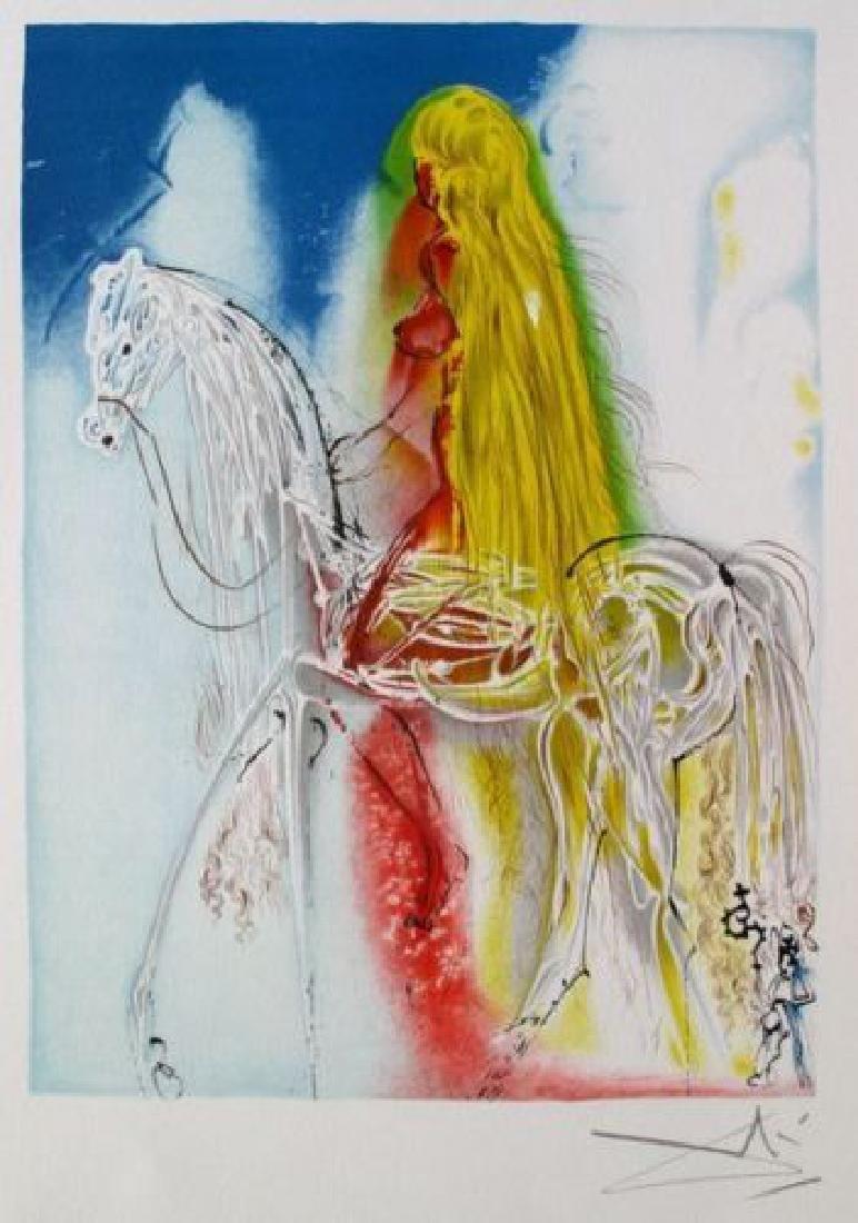 "Salvador Dali ""Lady Godiva"" Limited Edition Lithograph"